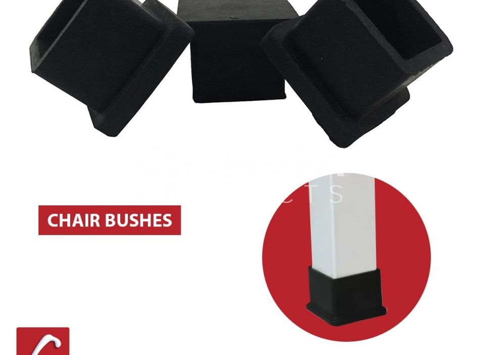 Square chair rubber bush tip